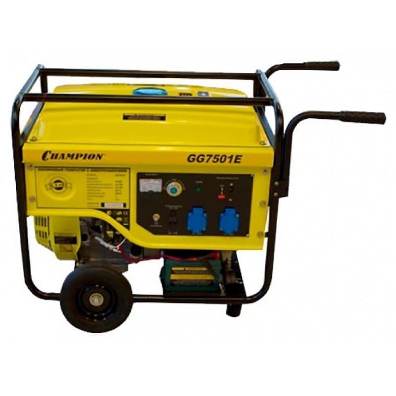 Бензиновый генератор в аренду  6,5 киловат Champion GG7501E