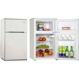Барный холодильник в аренду 95 л, холодильная камера 65 л, морозильное отделение 30 л, белый цвет, двухкамерный