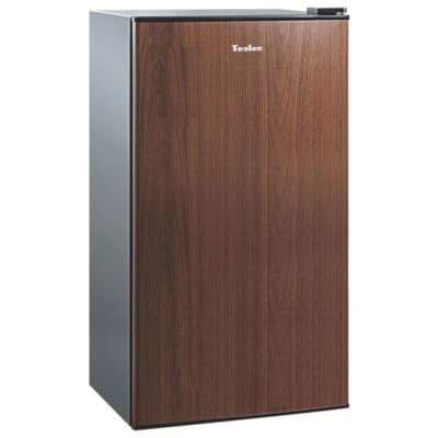 Барный холодильник в аренду 95 л Tesler, объем холодильной камеры 85 л, морозильное отделение 5 л, цвет черный, древесный