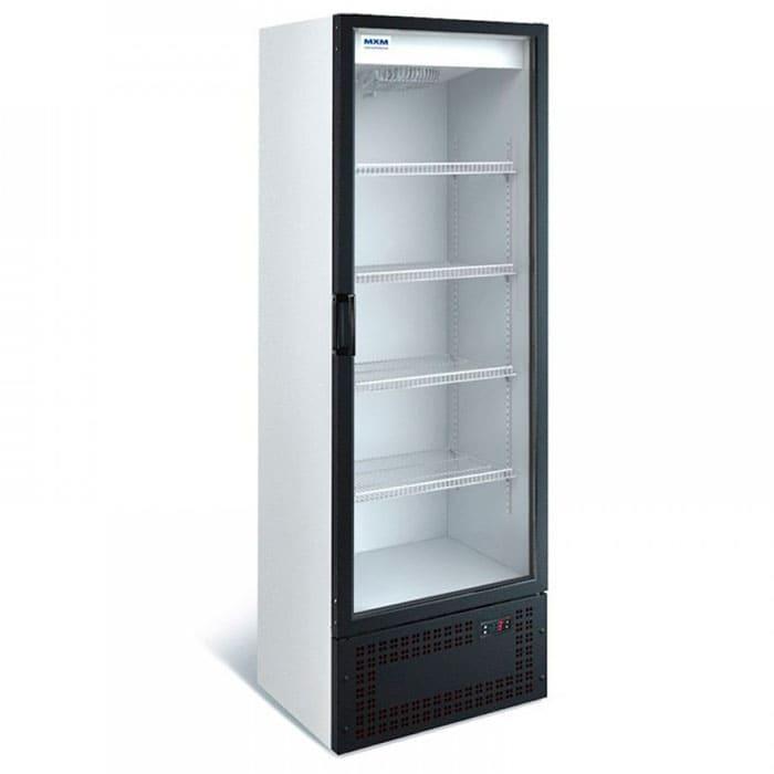 Аренда холодильника 400 л МХМ, универсальный температурный режим от -6...+6C градусов, витринного типа, стеклянная дверь