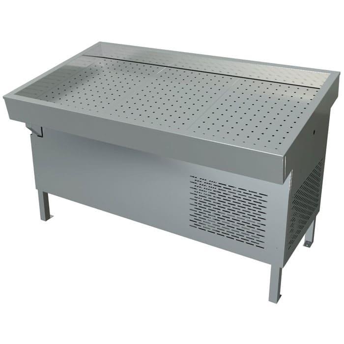 Холодильная витрина для рыбы на льду в аренду МХМ ПХС 1500 мм, температурный режим от 0...-2C градуса
