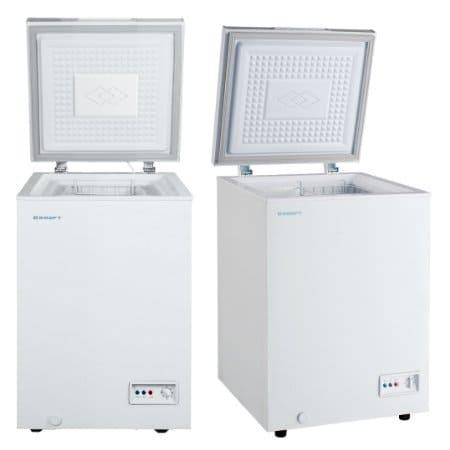 Морозильный ларь в аренду 100 литровый Kraft, температурный режим -18C градусов, белый, глухая крышка
