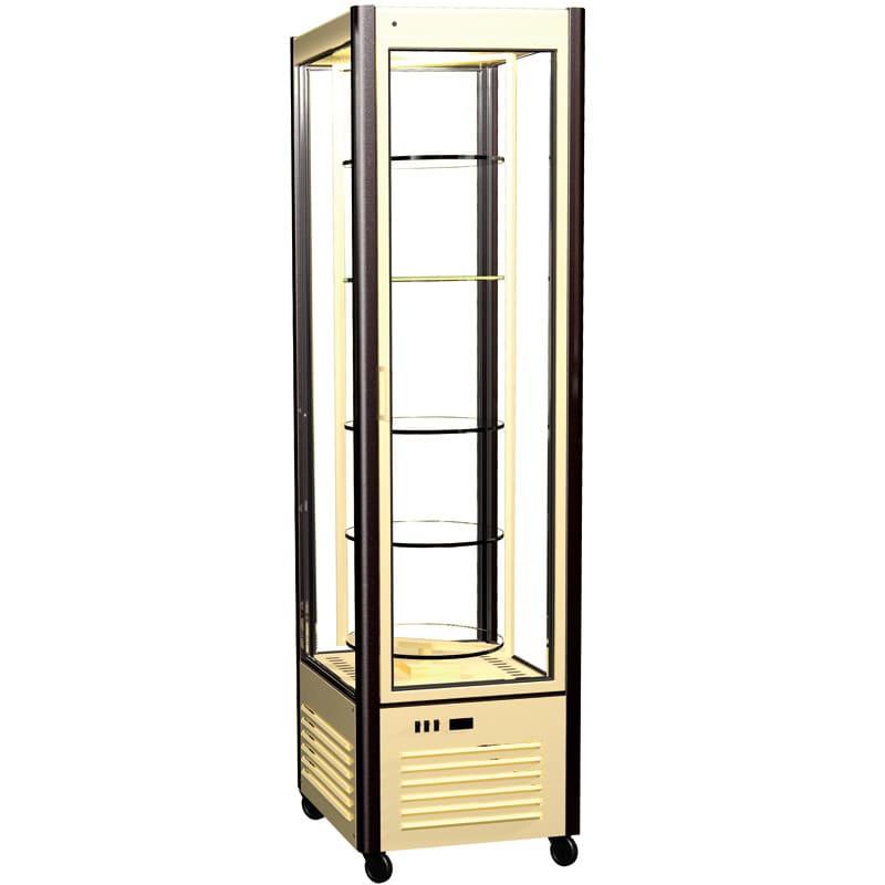 Кондитерская витрина в аренду R400 Carboma, температурный режим от +6...+12C, вращающиеся полки, высота 1850 мм